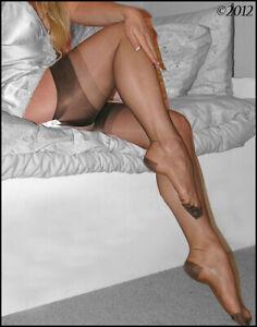 Eleganti RHT Stockings / Nylons - ESPRESSO - imperfects - NYLONZ