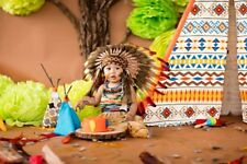 N01- For 9 to 18 month Toddler / Baby: three colors Native American Style Indian