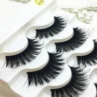 5 Pairs  Mink 3D Volume Corner Thick Eyelashes Lashes False Strip