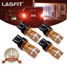 LASFIT 7443 7444 Red LED Brake Turn Signal Tail Stop Light Bulb Backup Reverse