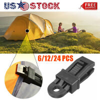 6-24PCS Tarp Clips Clamp Awning Set Car Boat Cover Tent Tie Down Emergency Snap