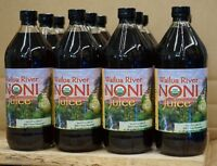 100% PURE HAWAIIAN WAILUA RIVER NONI JUICE Certified Organic: 12 Quart Bottles