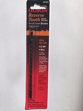 "Olson 5"" 130mm Plain Ended Reverse Scroll Saw Blades 12 Blades No.12    9.5tpi"