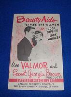 Vintage Beauty Aid Brochure for Valmor & Sweet Georgia Brown