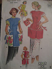 Vtg For uses of MILNOT McCall's COBBLER Apron Pattern/Hot Pads TIC TAC TOE Sm