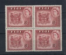 FIJI 1954-59 DEFINITIVES SG288a 8d BLOCK OF 4 MNH