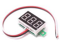 Mini DC 0-32V Digital Voltage Voltmeter Panel 3 Wire Red LED Display Motorcycle