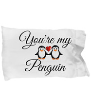 Penguin Gift Pillow Case Cover Relationship Boyfriend Girlfriend Wife Friendship