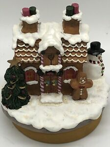 """Yankee Candle Jar Topper """"Our America""""  Christmas snowman and Gingerbread house"""