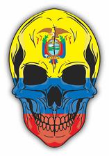 """Skull Flag Ecuador Car Bumper Sticker 4"""" x 5"""""""