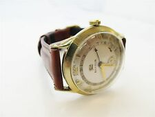 Vintage Benrus Day Date 10K Rolled Gold Plate Watch-RUNS #161