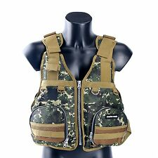 Fishing Life Jacket Kayak Boat Buoyancy Vest Camouflage Aid Sailing -Green