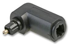 Acoplador de Cable de audio digital óptico TOSLINK 90 ° ángulo Derecho Adaptador Macho/Hembra