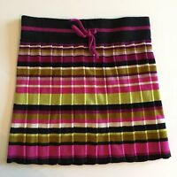 4986 NWOT MISSONI for Target Multi Color Micro Pleated Striped Skirt Girls Sz M