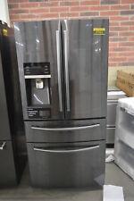 "Samsung RF25HMEDBSG 33"" Black Stainless French Door Refrigerator NOB #37563 CLW"
