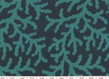 Blue Coral Coastal P Kaufmann Drapery Upholstery Fabric Into the Deep CL Island