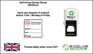 Garage Mechanics Rubber Stamp Self Inking Not Manual Excellent Service & History