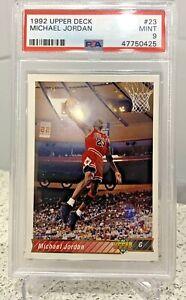 1992-93 Upper Deck MICHAEL JORDAN #23 PSA 9 MINT Chicago Bulls