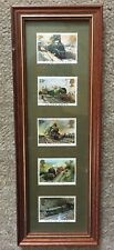 Railway Stamps x 5 - Framed