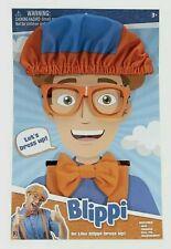 🔥🔥Blippi Roleplay Dress Up Costume Kit Hat Glasses Suspenders Bow Tie