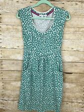 Boden Womens Green Aqua Tunic Sleeveless Dress Stretch Knit Pockets  Sz 4 K19