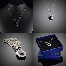 Modeschmuck-Halsketten mit Zirkonia-Perlen und Asscher