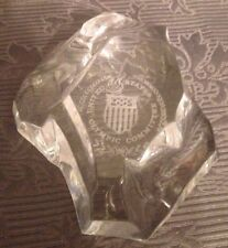 US Olympic Seal Val St. Lambert Crystal Iceberg Mountain Paperweight Limited Ed.