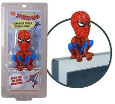 3NEW SPIDERMAN Computer Sitter Bobblehead - Wacky Wobbler Bobble Head Bobblehead