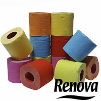 Renova Toilet Paper 6 Different Colors 1 Roll