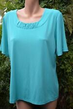 Stylish NONI B. Quality GREEN Top PLEAT Trim Size XL-18 NEW rrp$$79.95 S/SLEEVE