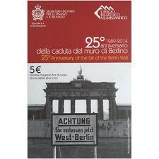 SAN MARIN 5 Argent 25º Anniversaire de l' Caída le mur de Berlin