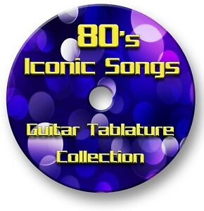 80's Iconic Pop Rock Guitar Tabs Tablature Lesson Software CD - Guitar Pro
