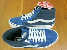 3953964ac7 Vans Mens Sk8-Mid Reissue Hairy Suede Mix Dress Blues Skate shoes Size 7.5  NWT