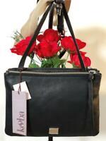 NWT Kooba Jasmine Double Zipper Crossbody Bag with Adjustable Strap in Black
