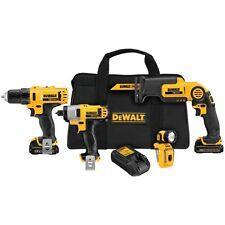 Dewalt DCK413S2 12-volt Li-ion 4-tool Combo Kit - Brand New Free Shipping