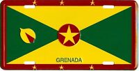 GRENADA COUNTRY FLAG EMBOSSED METAL LICENSE PLATE AUTO CAR TAG NEW #805