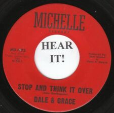 Dale & Grace TEEN 45 (Michelle 923) Stop and Think it Over/Bad Luck  VG+