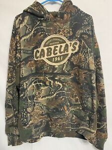 Vintage Cabelas Hoodie L Seclusion 3D Camo Camouflage Hunting