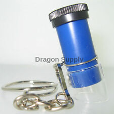 New ( 3 ) 5 x Pocket MICROSCOPE Magnifier jewelers eye loupe loop
