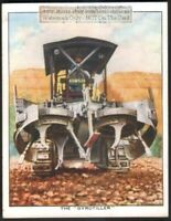 Giant Rotary 'Gyrotiller' Farm Field Cultivator c80 Y/O Trade Ad Card