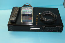 SONY MDS-JE500 MiniDisc Player/Recorder, Remote, Optical Cable, 10 Disks,working