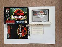 Jurassic Park - SNES Super Nintendo Game CIB BOXED PAL UKV + box protector