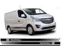 Vauxhall Van Side Stripes Vivaro, Custom sizes available - ANY COLOUR