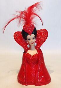 "1995 ""Bob Mackie"" Lady Head Vase Handpainted ""Queen of Hearts"""