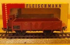 FLEISCHMANN H0 1485 Vagón de carga ABIERTO CON GARITA guardafrenos BUEN