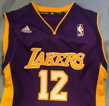 NBA Los Angeles Lakers Adidas #12 HOWARD Youth SMALL Used #2268