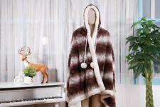 Chic Home Shady Snuggle Hoodie Animal Robe Plush Sherpa Wearable Blanket Brown