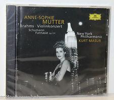 Brahms /Schumann VIOLIN CONCERTO/FANTASY Anne-Sophie Mutter NY Phil/Masur NEW CD