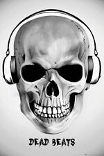 (LAMINATED) DEAD BEATS SKULL DJ SKELETON POSTER (61x91cm)  PICTURE PRINT NEW ART