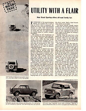 1966 INTERNATIONAL SCOUT SPORTOP ~  ORIGINAL 2-PAGE ROAD TEST / ARTICLE / AD